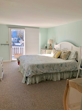 Mashpee, Popponesset Cape Cod vacation rental - Master Bed with slider to back deck