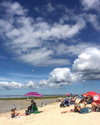 Orleans Cape Cod vacation rental - Skaket Beach has beautiful sand AND a snack bar.