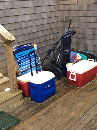 Orleans Cape Cod vacation rental - Beach chairs, umbrellas, a wagon and coolers are provided.