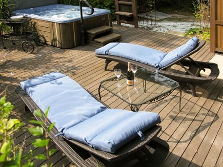 Wellfleet Cape Cod vacation rental - Deck with Hot Tub