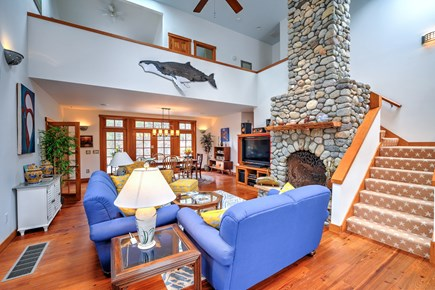 Wellfleet Cape Cod vacation rental - Living Room - Dining - Loft