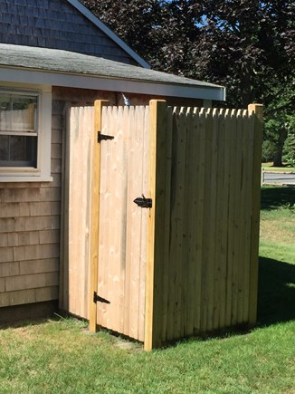 South Yarmouth Cape Cod vacation rental - There is nothing like an outdoor shower after the beach!
