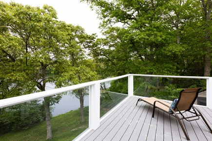 Barnstable Cape Cod vacation rental - New deck with water views and outdoor furniture