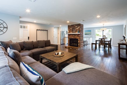 Barnstable Cape Cod vacation rental - Large, open living area with brand new flooring and furnishings