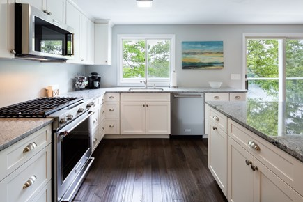 Barnstable Cape Cod vacation rental - Beautiful brand new kitchen overlooking the pond