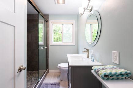 Barnstable Cape Cod vacation rental - Main level full bath with custom tiled shower