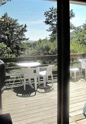 Wellfleet Cape Cod vacation rental - Spacious deck with outdoor dining, additional seating, bay views