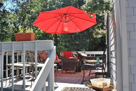 Brewster Cape Cod vacation rental - Back deck off of the sunroom