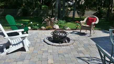Brewster Cape Cod vacation rental - Large backyard patio,w/fire pit, for s'mores & starry Cape nites