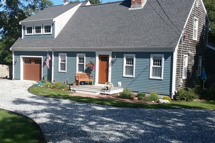 Brewster Cape Cod vacation rental - Front of house, circle driveway