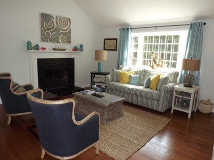 South Chatham Cape Cod vacation rental - Another view of the living room from the kitchen.