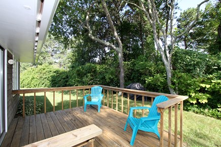 Chatham Cape Cod vacation rental - Private back yard with deck.