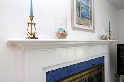 Chatham Cape Cod vacation rental - Mantel over the fireplace.