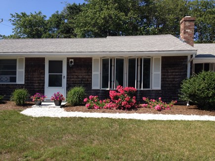 Chatham Cape Cod vacation rental - Front of the house with roses in full bloom.
