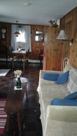 Eastham Cape Cod vacation rental - Comfy lvng rm,dining area,full couch,recliner,T.V, DVD Player