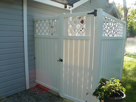 Eastham Cape Cod vacation rental - Outdoor Shower for your enjoyment. Two showerheads.Lovely!
