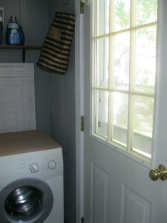 Eastham Cape Cod vacation rental - Full size capacity wash mach,outdoor line for drying,clothesrack.