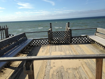 Eastham Cape Cod vacation rental - Private deck with stairs to beach below