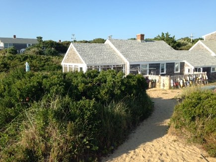 Eastham Cape Cod vacation rental - Cottage from private deck and stairs to beach