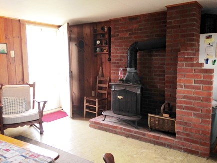 Eastham Cape Cod vacation rental - Front entrance/Living area with Franklin Stove