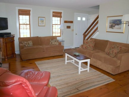 Eastham Cape Cod vacation rental - Living Room to Stairs