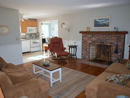 Eastham Cape Cod vacation rental - Living Room to Kitchen