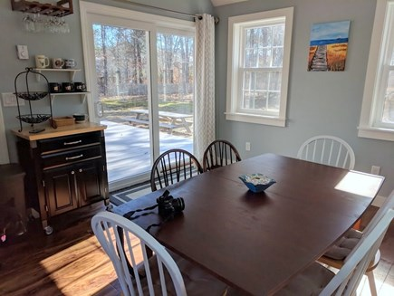 Eastham Cape Cod vacation rental - Dining Area to Deck