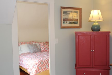 Wellfleet, Wellflleet Cape Cod vacation rental - Looking into first bedroom from living room