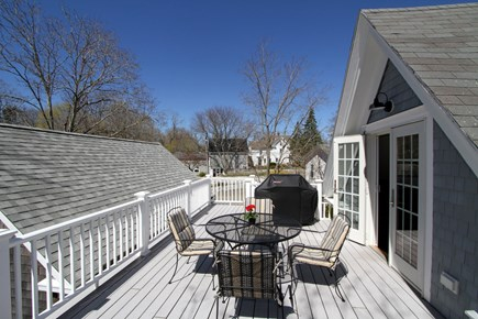 Wellfleet, Wellflleet Cape Cod vacation rental - The deck ,entry into the apartment