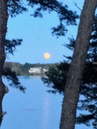 Wellfleet, Wellflleet Cape Cod vacation rental - Moon rising on one of the many ponds