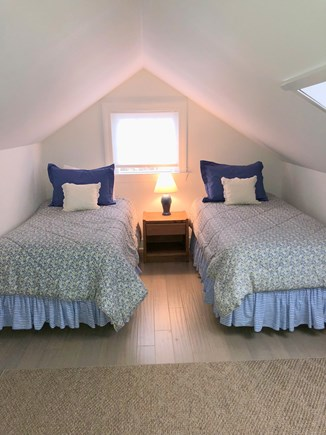 North Chatham Cape Cod vacation rental - Upstairs Bedroom with Two Twins...and in-wall AC unit