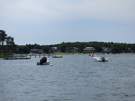 North Chatham Cape Cod vacation rental - Boating in Crow's Pond!