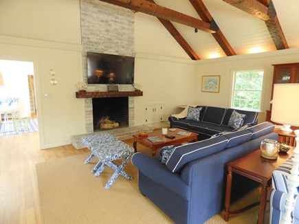 North Chatham Cape Cod vacation rental - Spacious Living Area, with Large TV and Plenty of Seating