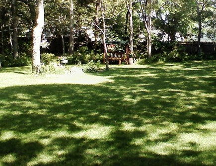 West Harwich Cape Cod vacation rental - Large back yard