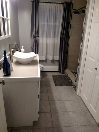 West Harwich Cape Cod vacation rental - Modern bathroom with tiled walk in shower