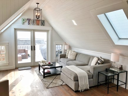 Provincetown Cape Cod vacation rental - Living Area with Sliders to the Deck