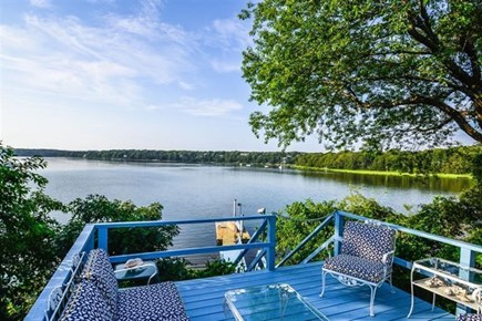 South Yarmouth Cape Cod vacation rental - Deck overlooking Follins Pond and Bass River