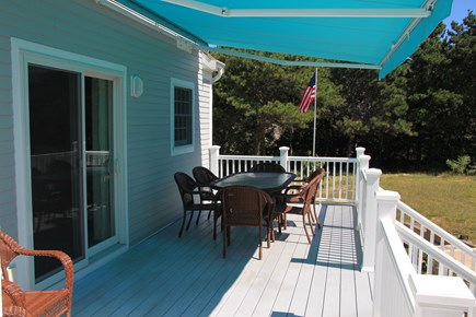 Eastham Cape Cod vacation rental - Deck with seating for 8