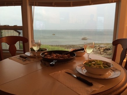 Fairhaven MA vacation rental - Dinner during a Tropical Storm..2014