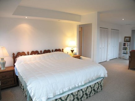 Brewster Cape Cod vacation rental - 2nd level master bedroom has bay views and a private deck.