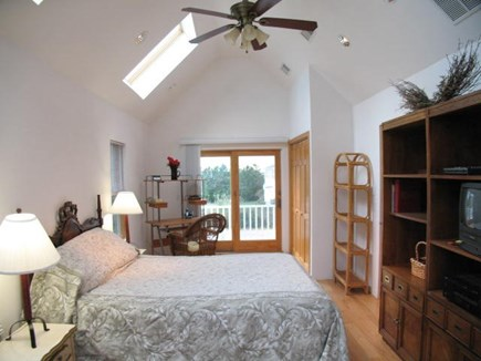 Brewster Cape Cod vacation rental - 2nd level second bedroom with private deck and bay views.