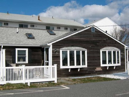 Dennis Port Cape Cod vacation rental - Front View with patio providing water views.
