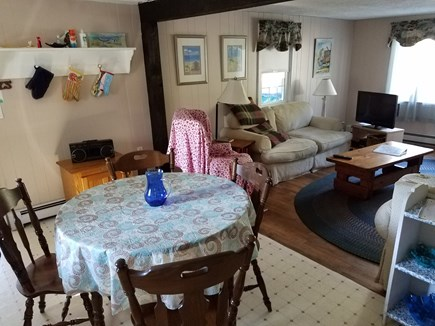 south yarmouth Cape Cod vacation rental - Dining area and living room