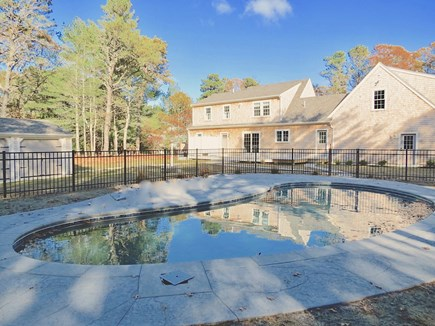 Brewster Cape Cod vacation rental - Heated, private in-ground pool is the outdoor centerpiece