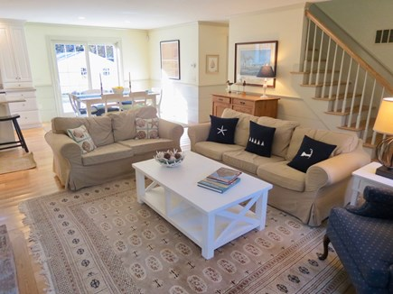 Brewster Cape Cod vacation rental - Living area has ample seating and a TV
