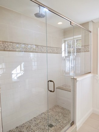 Brewster Cape Cod vacation rental - Master full bath en suite includes this stunning step-in shower