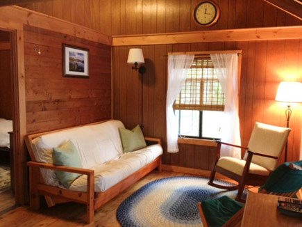 Brewster Cape Cod vacation rental - Living area has a full size futon