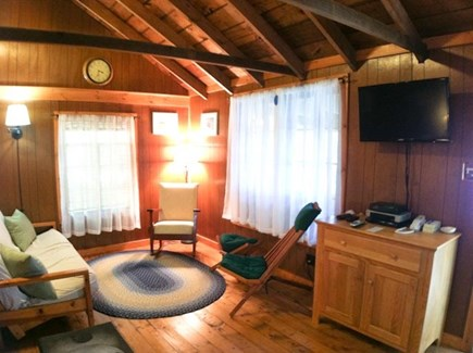 Brewster Cape Cod vacation rental - Living area with flat screen, premium channel TV with DVD player.
