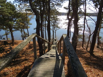 Harwich Cape Cod vacation rental - Steps lead down to the lake and all the waterfront activities.