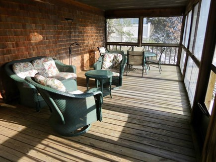 Harwich Cape Cod vacation rental - Just off the kitchen, you'll discover the roomy screened porch